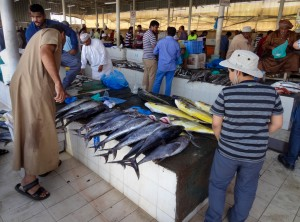 Visiting the fish market