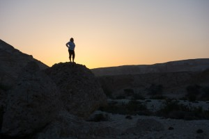 Sandra at daybreak in the wadi