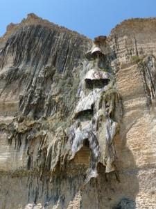 Strange limestone waterfall