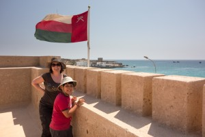 Visiting the old fort in Mirbat