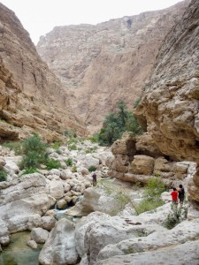 Hiking up the wadi