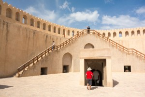 Ryo inside the drum tower of Nizwa Fort