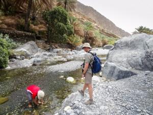 Hiking up Wadi Nakhr