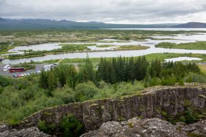 The rift between the Eurasian plate (foreground) and the North American plate (in the distance)