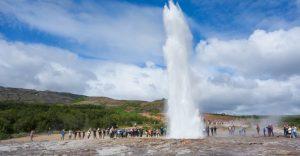 The Strokkur geyser in Geysir