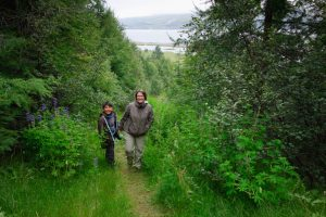 Hiking above Akureyri waiting for a table to open up