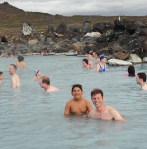 Relaxing in the Myvatn Nature Baths