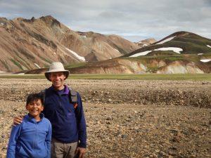 Ryo and Dad in the Landmannalaugar