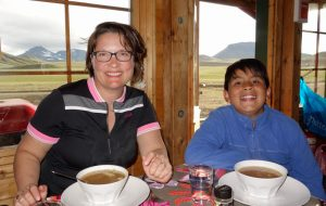 Delicious Icelandic soup in our little hut in the quiet Landmannahellir valley