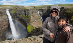 The magnificent Haifoss waterfall
