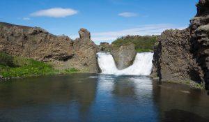 The Hjallparfoss waterfall