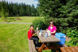 Picnicking in Hveragerdi