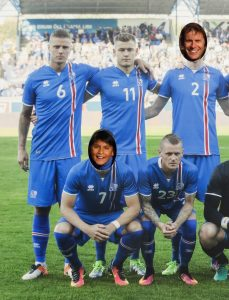 Two lesser-known members of the famous Icelandic football team