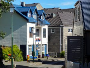 Our pretty neighbourhood in Reykjavik