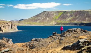 Looking out over Kaeifarvatn lake